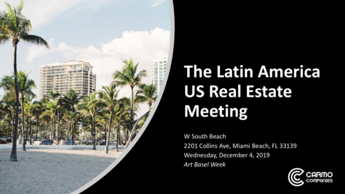 Woodside Addresses MOB Investors at The Latin America Southeast US Real Estate Meeting